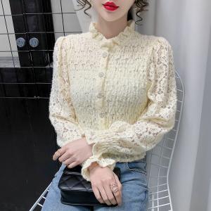 YF20779# 冬季新款蕾丝上衣 女装批发服饰直播货源