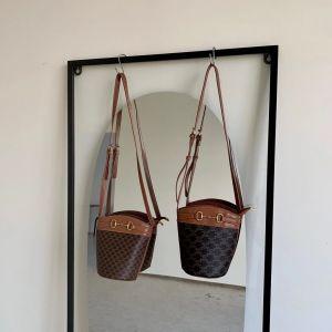 YF24546# 女包  老花棕单肩斜跨女包 包包批发女包货源