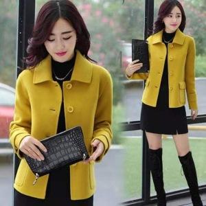 YF24067# 外套女短款百搭小个子秋冬西装洋气新款韩版显瘦毛呢上衣潮