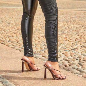 X-24816# 外贸款速卖通亚马逊流行凉鞋超高跟细带组合女凉鞋35-42 鞋子批发女鞋货源