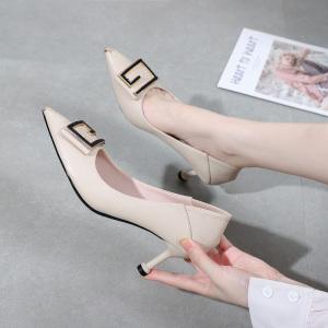 X-24863# 早春新款尖头时尚板鞋金属水钻尺码34-40码 鞋子批发女鞋货源