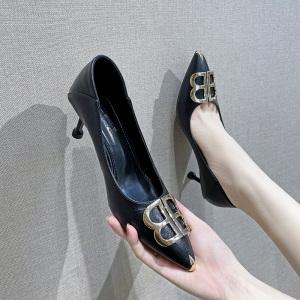X-24864# 早春新款尖头性感百搭单鞋时尚款尺码34-40码 鞋子批发女鞋货源