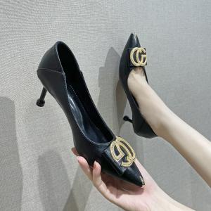 X-24866# 早春款性感潮百搭尖头水钻单鞋34-40款号潮 鞋子批发女鞋货源