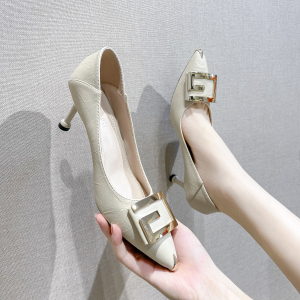 X-24867# 早春新款时尚百搭水钻尖头单鞋尺码34-40款号潮单鞋 鞋子批发女鞋货源