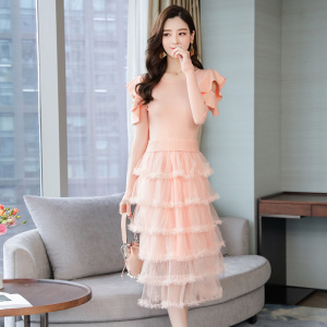 YF24055# 有女人味的连衣裙chic女装新款韩版裙子气质女神 服装批发女装直播货源