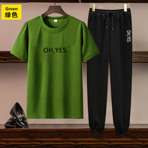 CX5055# 最便宜服装批发 欧美女装跨境亚马逊独立站货源休闲套装印花短袖T恤长裤两件套