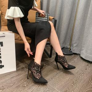 X-25051# 欧美性感欧洲站百搭激光洞洞凉鞋实拍尺码35-42型号高跟鞋 鞋子批发女鞋货源