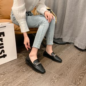 X-24945# 韩版外贸新款欧洲站时尚百搭新款后真皮尺码35-41一脚蹬单鞋 鞋子批发女鞋货源