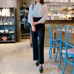 YF25252# 早春新款韩版OL气质黑白拼接蝴蝶结领假两件显廋连体裤 女装批发服装货源