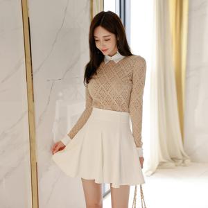 YF26300# 新款气质时尚套装蕾丝上衣+短裙两件套 服装批发女装货源