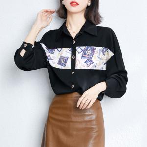 YF26479# 有春款衬衫女设计感小众港风衬衣长袖洋气雪纺上衣 女装批发服装直播货源