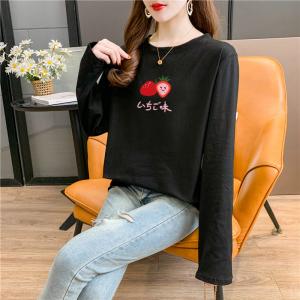 CX5043# 最便宜服装批发 莫代尔棉春秋长袖T恤女韩版宽松显瘦中长款打底衫上衣