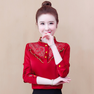 YF43702# 春季长袖雪纺衬衫女士内搭上衣气质打底小衫百搭洋气