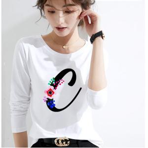 CX5049# 最便宜服装批发 好质量莫代尔棉春季圆领纯色长袖T恤女打底衫