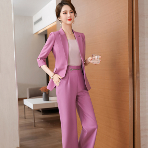 YF28316# 春夏新款七分袖洋气时尚显瘦职业中袖西服 服装批发女装直播货源