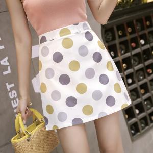 YF27373# 波点半身裙女春季新款韩版复古百搭高腰a字裙一步包臀短裙子 服装批发女装货源
