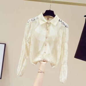 YF29308# 春季新款复古小众宫廷叠穿衬衫法式气质蕾丝上衣女 服装批发女装货源