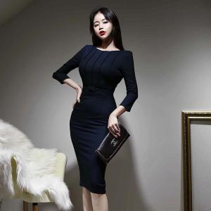 YF30007# 春装新款性感包臀中长款连衣裙 女装批发服装货源