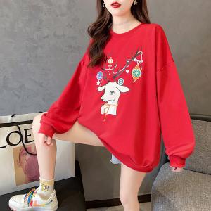 YF29007# 卫衣女春秋薄款长袖T恤韩版潮圆领字母大码女装 服装批发女装直播货源