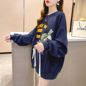 YF29282# 春装~新款韩版宽松大码女装卡通圆领薄款大码女装卫衣 服装批发女装货源