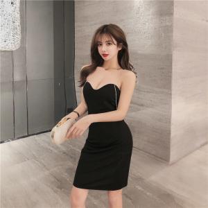 YF32471# 新款夜店性感包臀链条流苏吊带修身显瘦连衣裙 服装批发女装直播货源