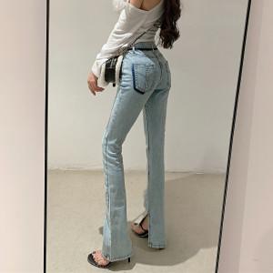 YF33917# 微喇叭裤女高...