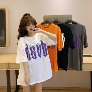 YF35318#  夏季新款短袖T恤女印花大字母上衣ins潮 服装批发女装直播货源