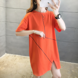 YF35099# 夏装加肥加大码女装短袖t恤女打底衫200斤胖mm纯棉 服装批发女装直播货源