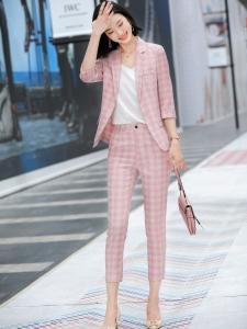 YF40423# 春装新款OL通勤职业装九分裤套装两件套时尚洋气女神范套装