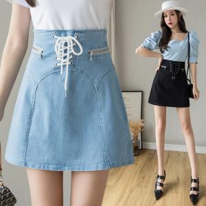 YF35575# 牛仔半身裙女装夏季新款高腰a字短裙ins超火的包臀裙子 服装批发女装直播货源
