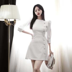 YF35902# 新款韩版气质修身连衣裙 服装批发女装直播货源
