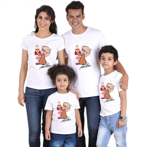 CX5692# 最便宜服装批发 外贸wish跨境爆款夏季圆领宽松休闲亲子装斋月元素短袖T恤