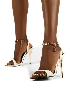 X-25260# 新款外贸糖果色尖头高跟鞋凉鞋链条鞋35-42 鞋子批发女鞋货源