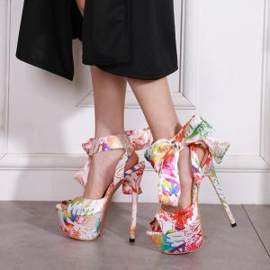 X-25261# 欧美明星同款16CM超高跟鱼嘴凉鞋34-40 鞋子批发女鞋货源