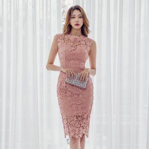 YF37994# 新款韩版气质修身连衣裙 服装批发女装直播货源