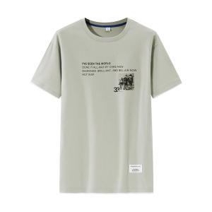 YF61995# 夏季日系t恤短袖男潮牌ins假两件潮流纯棉宽松半袖上衣服体恤 服装批发男装直播货源