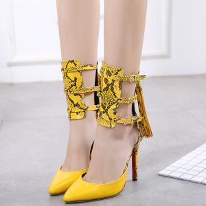 X-25273# 时尚高帮尖头细超高跟夏季单鞋  34-41 码 鞋子批发女鞋货源