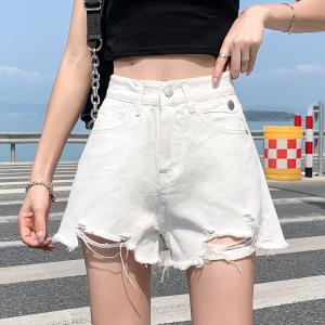 YF41762# 牛仔短裤女夏...