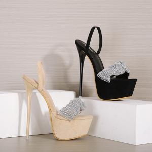 X-25264# 新款水钻超高跟水台女凉鞋两穿女鞋34-40码 鞋子批发女鞋货源
