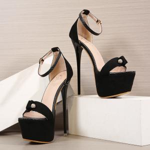 X-25266# 新款防水台16CM高跟水凉鞋34-40码 鞋子批发女鞋货源