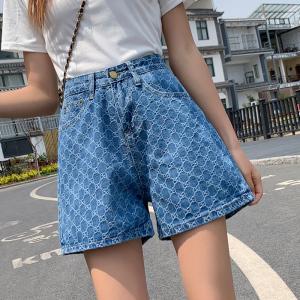 YF41763# 高腰牛仔短裤...