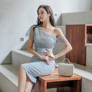YF40409# 新款韩版气质修身连衣裙包臀裙 服装批发女装直播货源