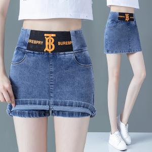 YF49144# 牛仔裤女夏季裙裤假两件短裤裙 服装批发女装直播货源