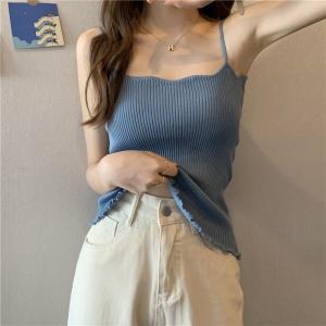 YF42309# ~夏季8色新款韩风内搭百搭针织吊带 服装批发女装直播货源