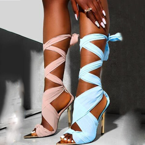 X-25267# 酷毙了新款欧美走秀网红街头款高跟性感女凉鞋 鞋子批发女鞋货源