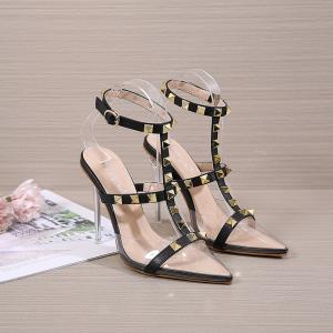 X-25270# 新款柳丁装饰高跟尖头水晶跟高跟女鞋34-40码 鞋子批发女鞋货源
