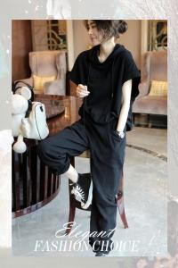 YF40893# 减龄洋气运动套装女士裤时尚休闲两件套气质春夏新款货欧洲站 服装批发女装直播货源