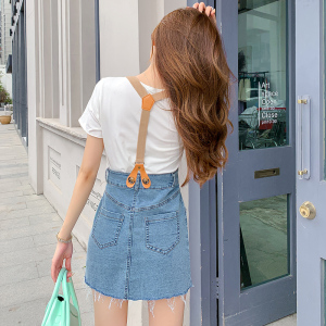 YF40882# 盐系炸街背带裙套装减龄女港味T恤吊带裤子两件套夏季新款潮 服装批发女装直播货源