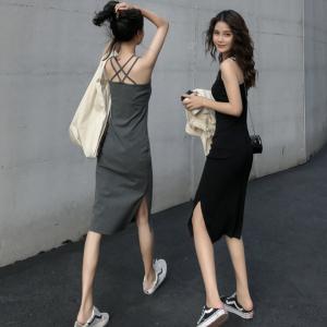 YF42489#新款韩版性感夏季大码宽松吊带连衣裙女无袖长裙 服装批发女装直播货源
