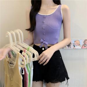 YF42829# 针织吊带背心女夏设计感ins短款露脐泫雅风内搭外穿打底上衣